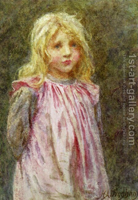 Polly by Helen Mary Elizabeth Allingham, R.W.S. - Reproduction Oil Painting
