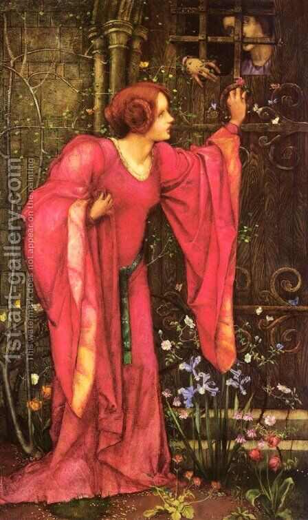 Stone Walls Do Not A Prison Make, Nor Iron Bars A Cage by Edward Reginald Frampton - Reproduction Oil Painting