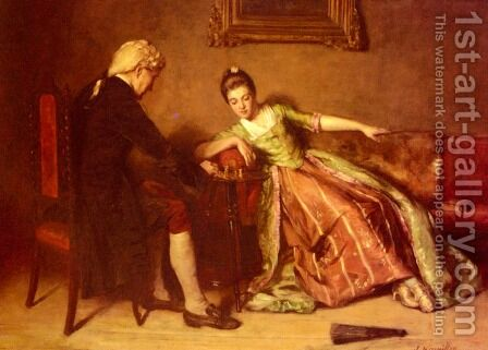 A Game Of Chess by James Hamilton - Reproduction Oil Painting