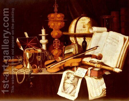 Vanitas Still Life by Edwart Collier - Reproduction Oil Painting