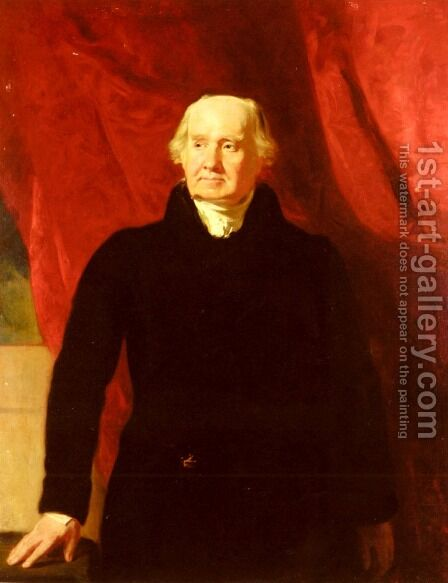 Portrait Of Sir John Marjoribanks (1763 - 1833) by Andrew Geddes - Reproduction Oil Painting