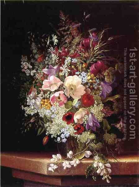 Still Life With Flowers by Adelheid Dietrich - Reproduction Oil Painting