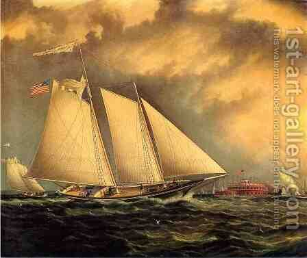 Yachting Off Castle Garden by James E. Buttersworth - Reproduction Oil Painting