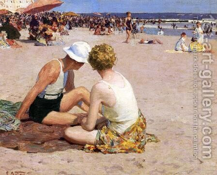 A Summer Vacation by Edward Henry Potthast - Reproduction Oil Painting