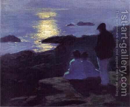A Summer's Night by Edward Henry Potthast - Reproduction Oil Painting