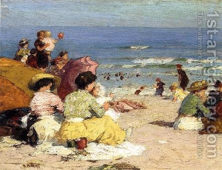 Beach Scene by Edward Henry Potthast - Reproduction Oil Painting