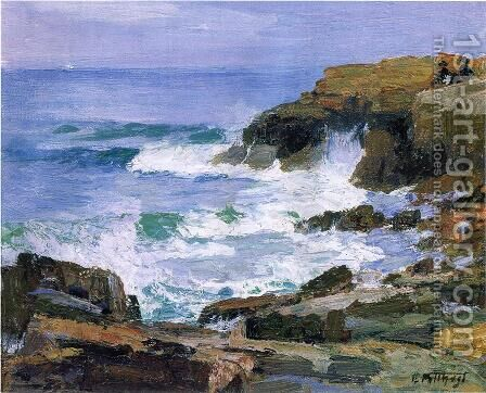 Looking out to Sea by Edward Henry Potthast - Reproduction Oil Painting