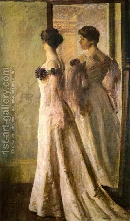 The Heliotrope Gown by Joseph Rodefer DeCamp - Reproduction Oil Painting