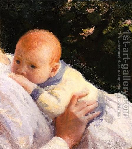 Theodore Lambert DeCamp as an Infant by Joseph Rodefer DeCamp - Reproduction Oil Painting