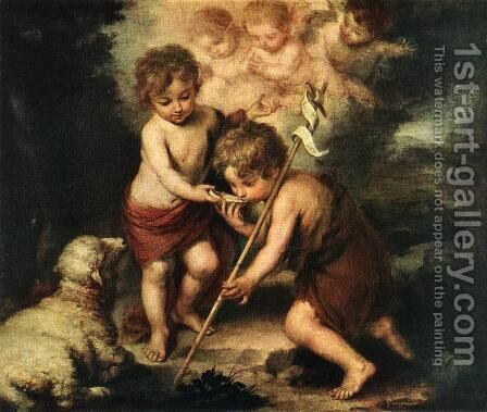 Children with Shell by Bartolome Esteban Murillo - Reproduction Oil Painting