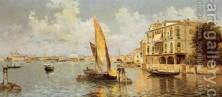 The Grand Canal by Antonio Maria de Reyna - Reproduction Oil Painting