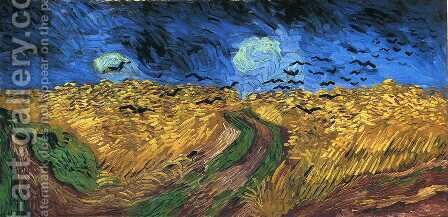 Wheatfield with Crows by Vincent Van Gogh - Reproduction Oil Painting