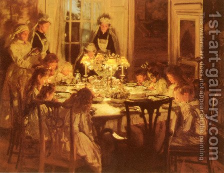Grandmothers Birthday by J.H. Lorimar - Reproduction Oil Painting