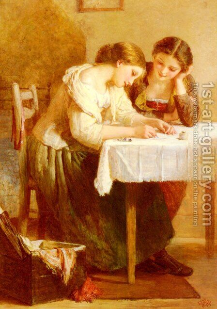 Love Letter by Henry Lejeune - Reproduction Oil Painting