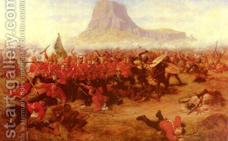 The Battle Of Islandhlwana by Charles Edwin Fripp - Reproduction Oil Painting