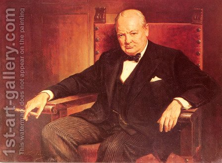 Sir Winston Churchill by Arthur Pan - Reproduction Oil Painting