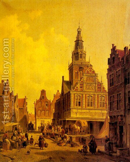 The Weight House, Alkmaar by Jacques Carabain - Reproduction Oil Painting