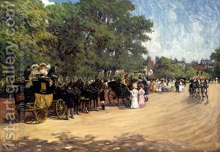 The Four-in-Hand, Hyde Park by Albert Ludovici - Reproduction Oil Painting
