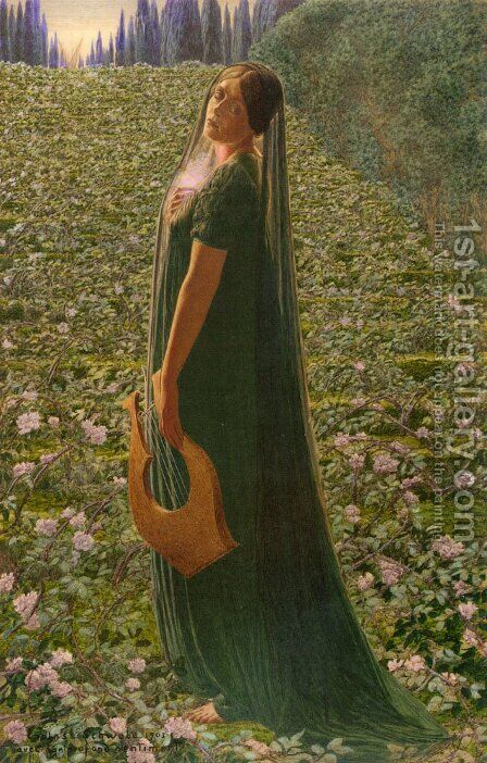Elysian Fields by Carlos Schwabe - Reproduction Oil Painting