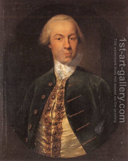 Portrait of General Allanby, Govenor of Santa Lucia by Cosmo Alexander - Reproduction Oil Painting