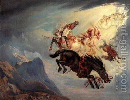 The Fall Of Phaeton by James Ward - Reproduction Oil Painting
