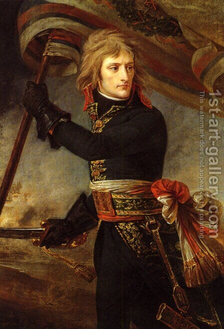 Bonaparte at the Bridge of Arcole by Antoine-Jean Gros - Reproduction Oil Painting