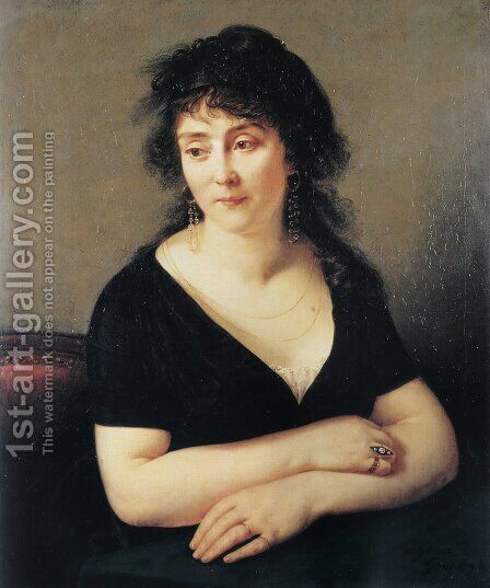 Portrait of Madame Bruyere by Antoine-Jean Gros - Reproduction Oil Painting