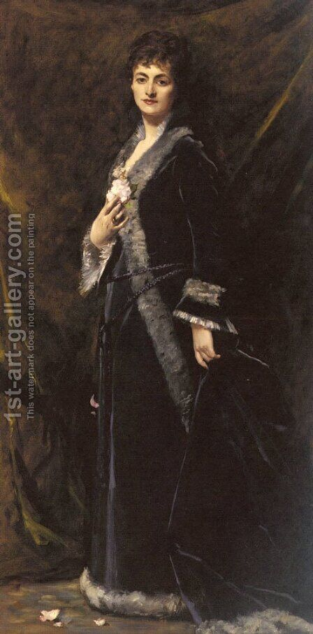 A Portrait of Helena Modjeska Chlapowski by Carolus (Charles Auguste Emile) Duran - Reproduction Oil Painting