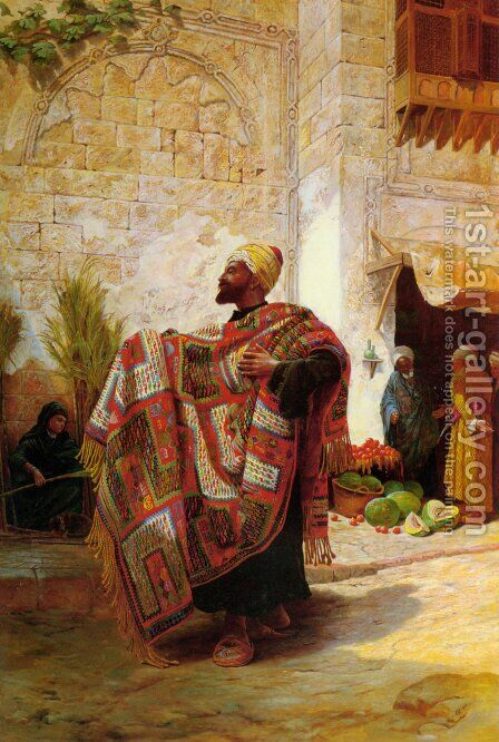The Carpet Seller by Charles Robertson - Reproduction Oil Painting