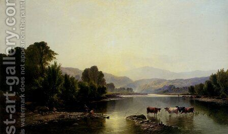 Morning On The Dee by Henry John Boddington - Reproduction Oil Painting