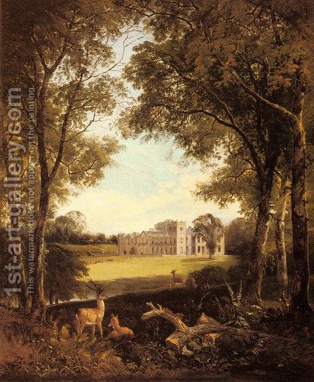 A View of Norton Hall, near Daventry, North Hamptonshire, England by Henry John Boddington - Reproduction Oil Painting