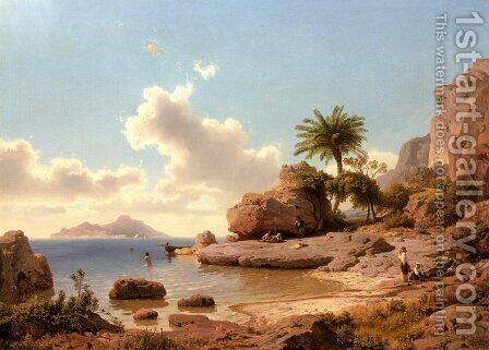 Ansicht Von Capri (Capri) by Albert Flamm - Reproduction Oil Painting