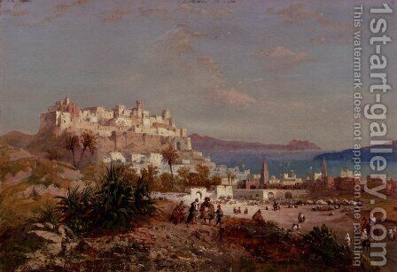 Spanish Fort, Bizerte, Tunisia by Carlo Bossoli - Reproduction Oil Painting
