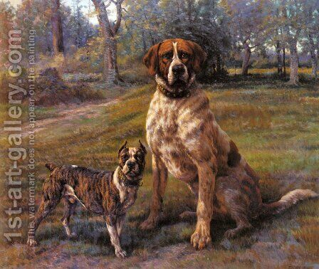 Good Friends by Edmund Henry Osthaus - Reproduction Oil Painting