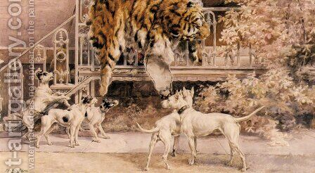 Hunting Tigers, the Terriers by Edmund Henry Osthaus - Reproduction Oil Painting