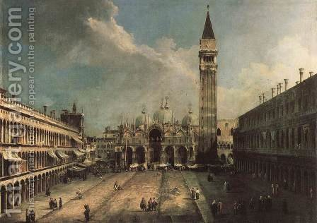 Piazza San Marco by (Giovanni Antonio Canal) Canaletto - Reproduction Oil Painting