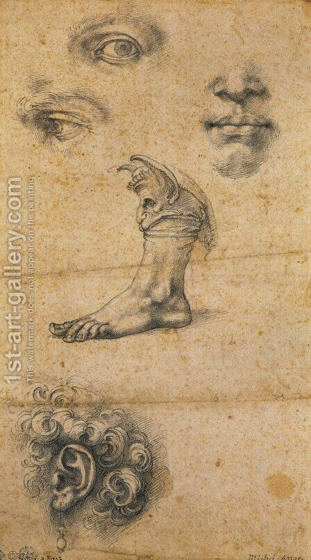 Five studies by Benvenuto Cellini - Reproduction Oil Painting