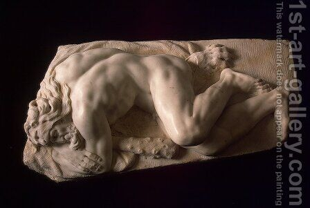 Sleeping Hercules by Baccio Bandinelli - Reproduction Oil Painting