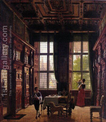 Interior, Lubeck by Heinrich Hansen - Reproduction Oil Painting