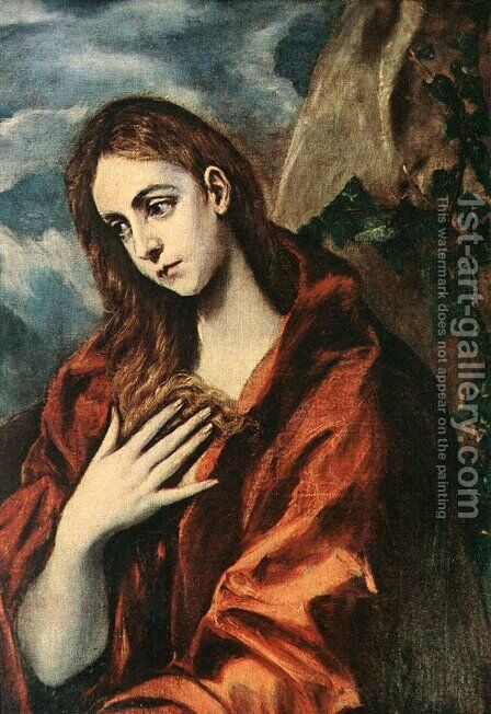 Penitent Magdalene by El Greco - Reproduction Oil Painting