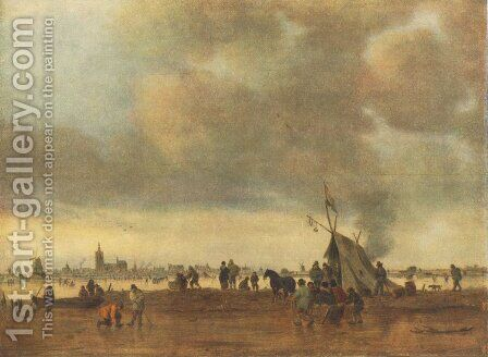 Winter by Jan van Goyen - Reproduction Oil Painting