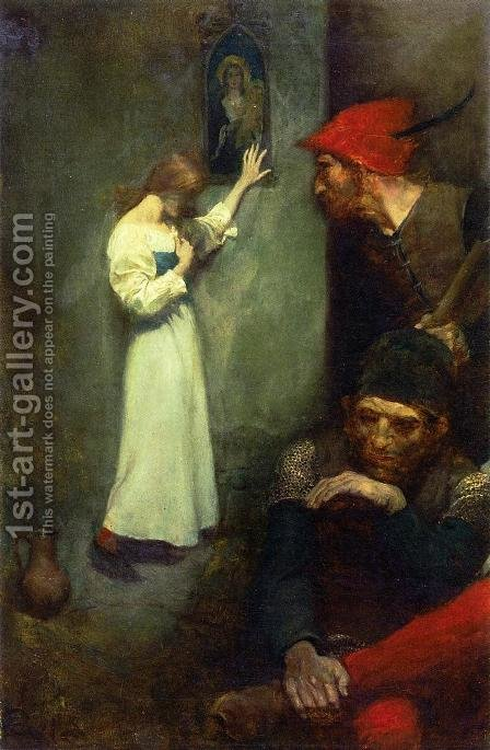 Joan of Arc in Prison by Howard Pyle - Reproduction Oil Painting