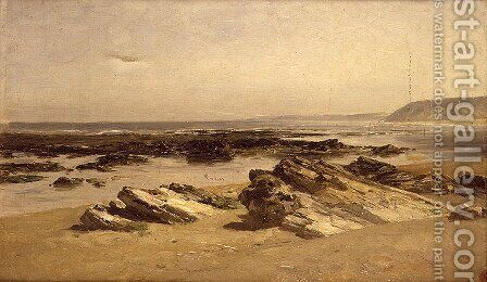 Bajamar (Guetary) (Low tide (Guetary)) by Carlos de Haes - Reproduction Oil Painting
