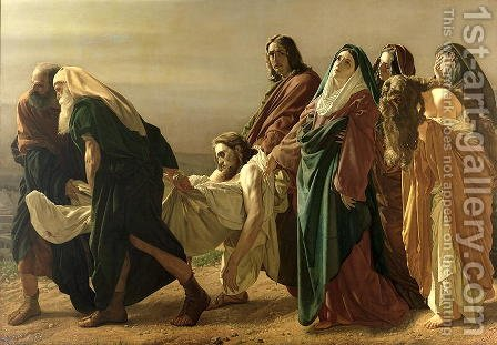Deposizione di Gesù (The Deposition of Christ) by Antonio Ciseri - Reproduction Oil Painting