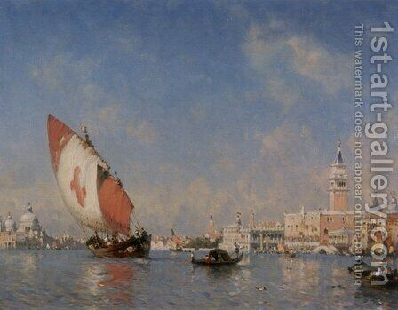 The Grand Canal, Venice by Amédée Rosier - Reproduction Oil Painting