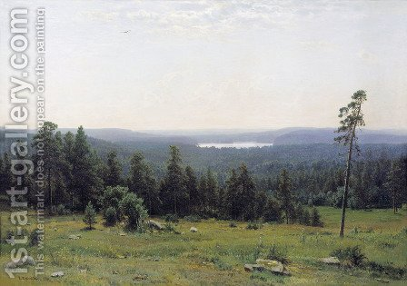 A Lakeside Forest by Ivan Shishkin - Reproduction Oil Painting