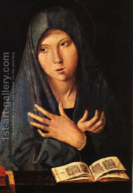 Virgin of the Annunciation by Antonello da Messina Messina - Reproduction Oil Painting