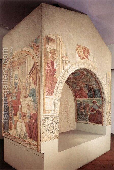 Shrine of the Visitation by Benozzo di Lese di Sandro Gozzoli - Reproduction Oil Painting