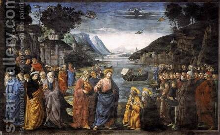 Calling of the First Apostles by Domenico Ghirlandaio - Reproduction Oil Painting