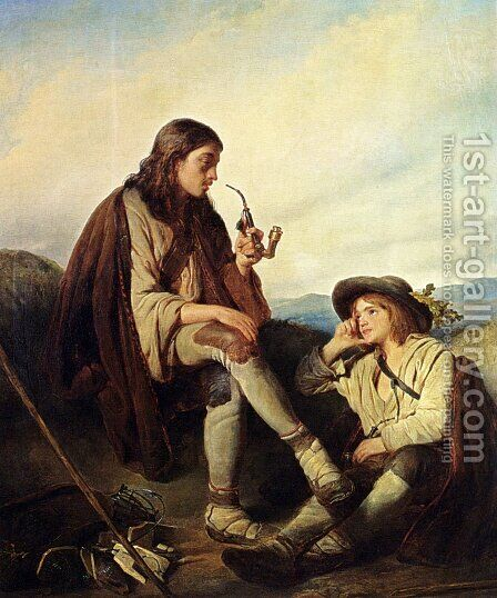At Rest by Cornelis Kruseman - Reproduction Oil Painting